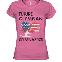 Future Olympian - American Gymnast - Adults/Teens V-Neck Shirts