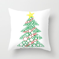 Christmas Tree Throw Pillow by DanielBergerDesign