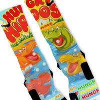 Hungry Hippos Fast Shipping!! Nike Elite Socks Customized