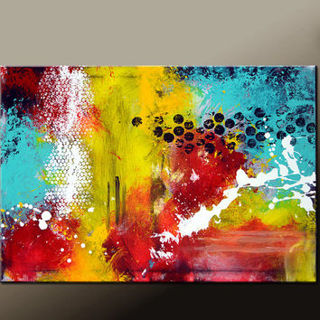 Abstract Canvas Art Painting Canvas 36x24 Original Modern Contemporary Paintings by Destiny Womack - dWo - Impulse
