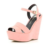 River Island Womens Coral wedge sandals