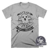 Lets Get Sheet Faced Shirt Funny Halloween Beer Shirt Funny Scary Ghost Shirt