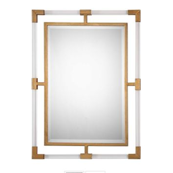 Acrylic and Gold Mirror