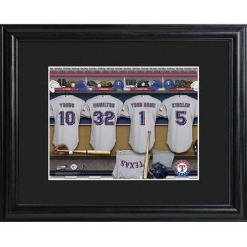 Customizable MLB Clubhouse Print w/Matted Frame - Texas Rangers