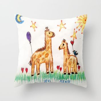 :: Good Friends :: Throw Pillow by :: GaleStorm Artworks ::