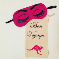 Fun Travel Eyes Mask with Personalized Bag queen - Sleep Mask - Gift For Her - Sleeping Mask - Mask - Travel Mask - Eye Mask - Cotton Mask
