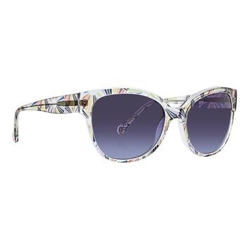 Trina Turk - Surin 56mm Navy Sunglasses / Blue Gradient Lenses