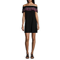 Arizona Short Sleeve A-Line Dress-Juniors - JCPenney