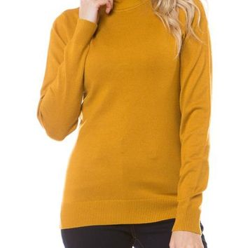 Mock Neck Pull Over Sweater