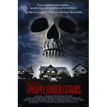 People Under The Stairs Movie poster Metal Sign Wall Art 8in x 12in