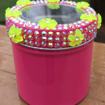 Stash Jar -- Mini Magnetic Flower Stash Jar