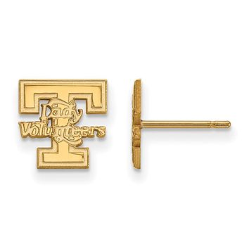 NCAA 14k Gold Plated Silver University of Tennessee XS Post Earrings
