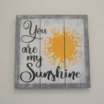 You Are My Sunshine Wood Pallet Sign Nursery Decor