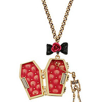 COFFIN PENDANT NECKLACE: Betsey Johnson