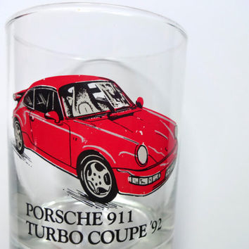 Vintage Porsche Highball Glass 1992