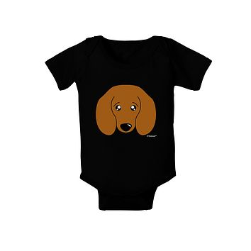 Cute Doxie Dachshund Dog Baby Bodysuit Dark by TooLoud