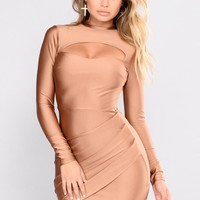 Dare To Mock Me Dress - Camel