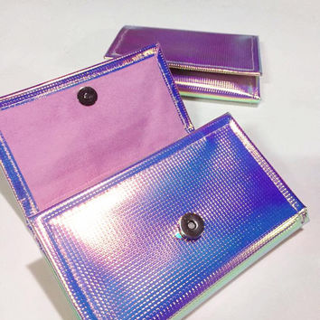 Holographic pink wallet
