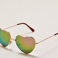 Aerie Women's Heart-shaped Sunglasses (Rose Gold)