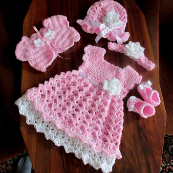 Shop Crochet Baby Girl Dresses on Wanelo