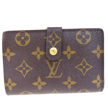 Auth LOUIS VUITTON Viennois Bifold Wallet Purse Monogram Leather M61663 05EC174