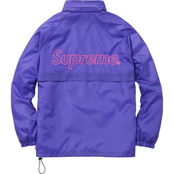 Supreme: Windbreaker Warm Up Jacket - Purple