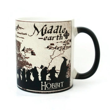 Color Changing Mug Middle Earth, Lord Of The Rings Mug, Hobbit Mug, Funny Tea Cup, Ceramic Coffee Mug, Funny Message, Mug Middle Earth, Mugs