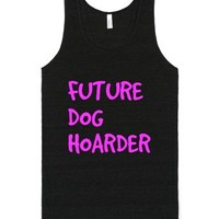 Future Dog Hoarder Tank Top-Unisex Tri-Black Tank