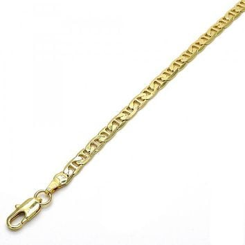 Gold Layered 04.63.1334.24 Basic Necklace, Mariner Design, Polished Finish, Golden Tone