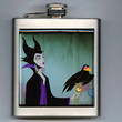 Sleeping Beauty Inspired Maleficent Villain Liquor Hip Flask Disney