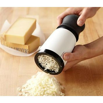 New Stainless Steel Cheese Grater Kitchen Gadgets Chocolate Grater Hand Operated Tools With 2 Differnt Blades