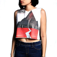 Sleeping with Sirens Crop Top Tank Shirt Cropped Tops S M L