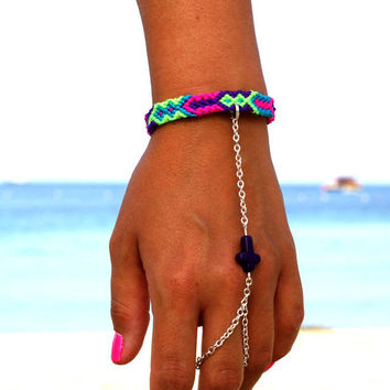 Bright neon cross bracelet...Follow me for more:)
