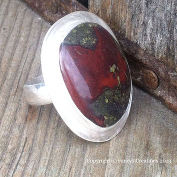 Dragonfire Jasper Sterling Silver Ring