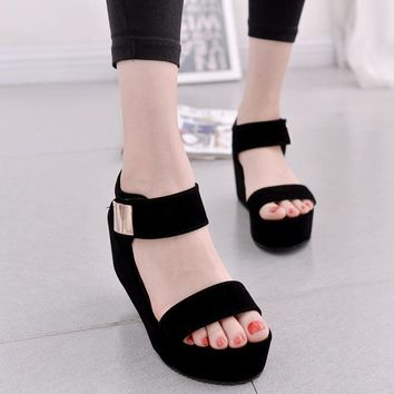 Platform Sandals Shoes Women High Heel wedges Shoes Open Toe Platform Gladiator Trifle Sandals Women Shoes footwear