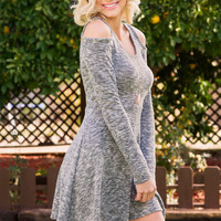 Adelie Cut Out Dress - Gray