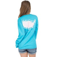 Sea to Shining Sea Long Sleeve Tee in Glacier Blue by Lauren James
