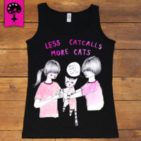 Less Catcalls More Cats -- Women's Tanktop