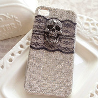 glistening Punk skull iphone 4s case, iphone 5 case,samsung galaxy s3 s4 case,samsung note 3 case,unique htc one case,dazzling phone case