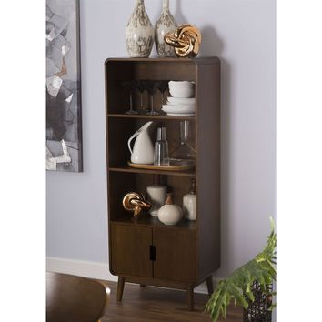 Modern Classic Mid-Century Style Bookcase Cabinet