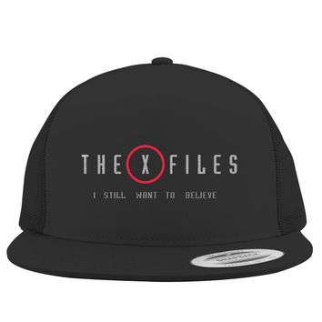 The X Files I Still Want To Believe  Embroidered Trucker Hat