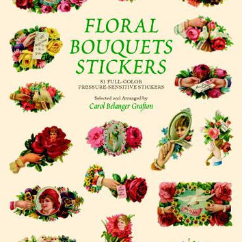 Victorian Floral Bouquet Stickers Large Sticker Book