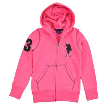 U.S. Polo Assn. Girls Full-Zip Hoodie