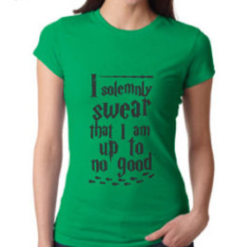 Harry Potter Inspired Clothing - I Solemnly Swear I Am Up to No Good Crew Neck - Ladies