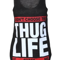 Thug Life Casual Top / Black - Womens Clothing Sale, Womens Fashion, Cheap Clothes Online | Miss Rebel