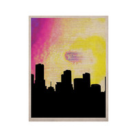 """Infinite Spray Art """"Skylined"""" Pink Yellow KESS Naturals Canvas (Frame not Included)"""