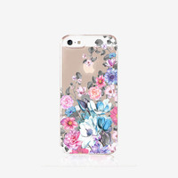 Floral iPhone 6s Case Clear Floral iPhone 6s Plus Case Clear iPhone Case Vintage Floral iPhone Case Clear Samsung S6 Case