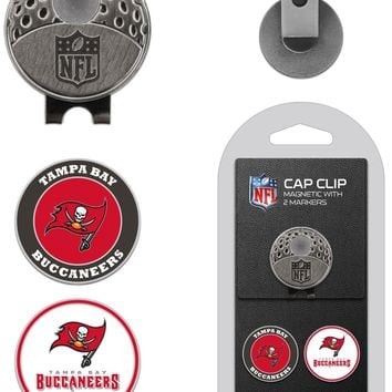 NFL Tampa Bay Buccaneers Hat Clip & 2 Magnetic Golf Ball Markers