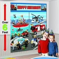 LEGO City Giant Scene Setter Wall Decorating Kit