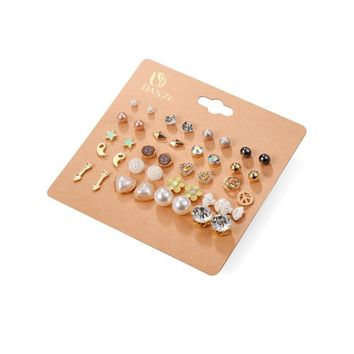 Korean Accessory Stylish Pearls Butterfly Set [197064982554]